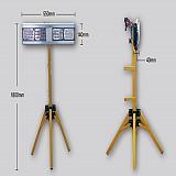 초경량  경광등 (4구 LED) D/C 접이식 지주